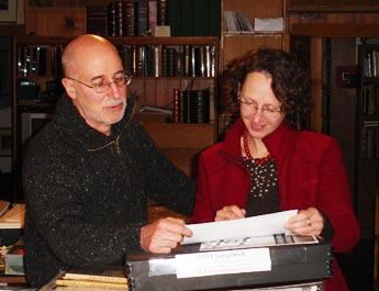 Irvin Ungar with Katja Widmann, Curator at the Deutsches Historisches Museum. Burlingame, California.