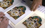 Comparing Prints to Original Haggadah Art.