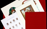 Portfolio Suite of 12 Prints from the Szyk Haggadah, in Custom Fabric-covered Compartment.