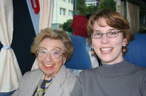 Alexandra with Szyk Society Coordinator, Allison Chang, Berlin, 2008