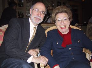 Irvin Ungar and Alexandra Szyk Bracie relaxing at a hotel after an event at the US Capitol Rotunda for Yom HaShoah, 2002
