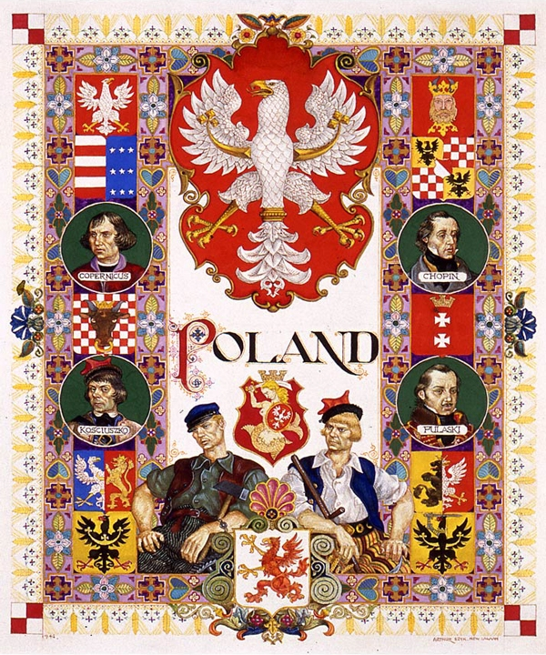 Visual History of Nations: Poland. New Canaan, 1946.